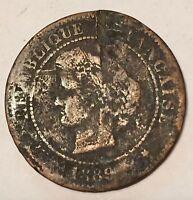 5 Centimes Cérès Bronze 1889A N1