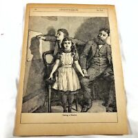 Authentic Antique Chatterbox Magazine Engraving On Paper - 1880-1920's Old B