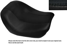 DESIGN 2 BLACK STITCH CUSTOM FITS HARLEY NIGHT V ROD SPECIAL FRONT SEAT COVER