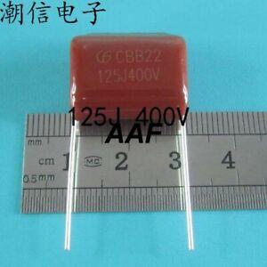 10PC  CBB22 capacitor 125J 1.2UF 400V pitches: 20MM