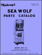 Sea Wolf Submarine Sub Arcade Game Parts Catalog with Schematic Manual Midway WD