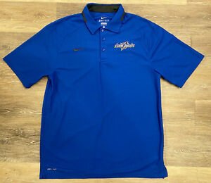 NEW! Mens Nike Dri-Fit MiLB AAA Omaha Storm Chasers KC Royals Team-Issue Polo M