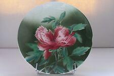Faïence de Gien: ancien plat décor de fleurs au pochoir 26.5 cm