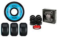 Bones Wheels 100's Black 53mm Conical V5 + FREE Spitfire Skateboard Bearings