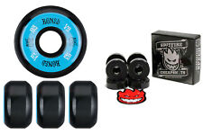 Bones Wheels 100's Black 53mm Conical V5 + Spitfire Skateboard Bearings
