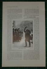 1916 WWI WW1 PRINT ~ GENERAL JOFFRE IN LONDON ~