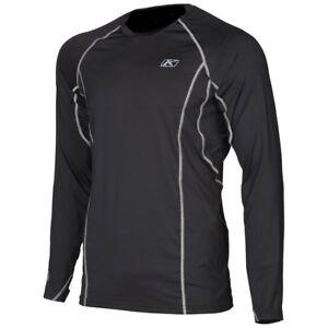 Klim Mens Agressor 2.0 Base Layer Shirt Black Size Small