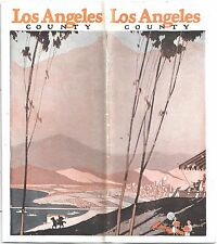 Los Angeles County Travel Brochure c1928 Things to Do and See in Los Angeles