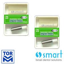 Lot x 2 Dental transparent cervical matrix bands matrices composite filling
