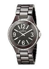 New Mens Invicta 1186 Black Dial Brown Ceramic 42mm SWISS Watch