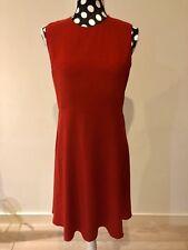 JOSEPH women red doll zipper dress size 42 UK 14