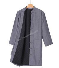 Warm Chinese Traditional Kung Fu Martial arts Shaolin Long Robe Crosstalk Gown