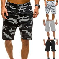 Mens Camouflage Drawstring Shorts Beach Casual Swimming Surf Pants Sports Trunks
