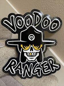 New Belgium Brewery Voodoo Ranger Metal BEER Tacker Sign Tin Craft Brewery NEW