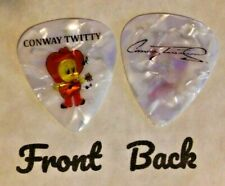 CONWAY TWITTY band logo signature guitar pick  - q