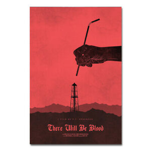 There Will Be Blood Movie Poster Simplicity Art Print Wall Decor 16x24 inch