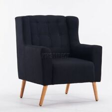 Chaises noir en tissu pour le salon