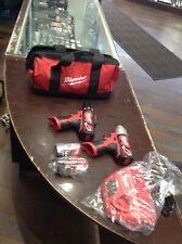 "MILWAUKEE12 Li-Ion 1/4"""" Cordless Hex Impact Driver Tool with Drill Driver SET 2"