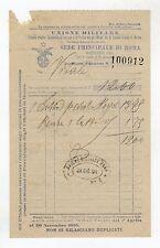 fattura antica - UNIONE MILITARE 1894