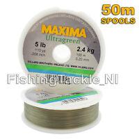 Maxima Ultragreen Fishing Line - Hi-Tensile Monofilament  2lb-30lb - 50m Spools