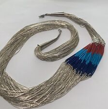 Liquid Silver Coral, Turquoise, and Lapis Necklace