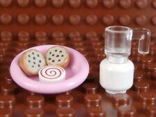 LEGO MILK N' COOKIES SET ~ Minifig Milk Jug w/ Plate & Three Cookies *** NEW ***