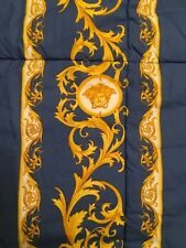 $5000 VERSACE COMFORTER BED COVER BEDSPREAD MEDUSA GOLD BLUE 2 sides KING SALE