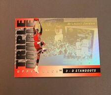 1993-94 Upper Deck Michael Jordan 3-D Standouts Triple Double Hologram #TD2