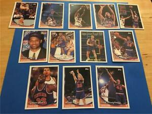 1993/94 Topps Cleveland Cavaliers Team Set 12 Cards