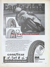 Goodyear Eagles Tyres Motorcycle 1980 Magazine Advert #1381
