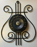 Vintage Thermometer Harp/Lyre Shaped By Cooper-Black
