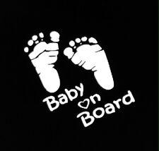 BABY ON BOARD (feet) vinyl decal