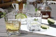 Kikkerland Set of 4 Cocktail Recipe Glass Bartending Glasses Bar Party Gift Set