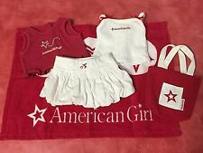 Nice Red  White Lot American Girl Doll Cloths & Accessories Excellent Cond.