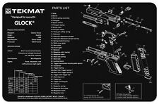 SUPER SIZE MOUSE MAT FOR COMPUTER GAMERS BY TEKMAT USA WITH GLOCK PISTOL DESIGN
