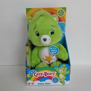 NIB Oopsy Bear 2007 Care Bears green plush shooting star DVD Play Along Toys