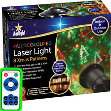 Outdoor Laser Lights Star DEL Projector Christmas Shower Patterns Remote Control