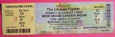 UFC ULTIMATE FIGHTER ORIGINAL USED TICKET MGM LAS VEGAS, JULY 12 2015