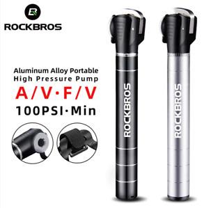 RockBros Mini Portable Bike Pump Light Aluminum Alloy Air Pump MTB Road Cycling