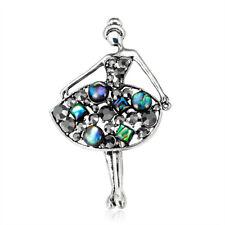Natural Abalone Shell Ballet Dancer Brooch Pin Banquet Shirt Collar Pin Gifts MC