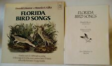 Florida Bird Songs LP Record 59 Field Recordings Illustrated 32 page book 33 1/3