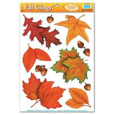 Fall Leaf Window Clings Fall Autumn Thanksgiving Party Halloween Decoration