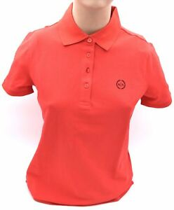 ARMANI EXCHANGE WOMAN POLO SHIRTS SHORT SLEEVE CODE 8NYF72 Y8B9Z WITHOUT TAG