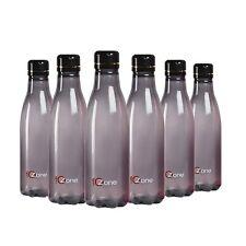 Plastic Fridge Refrigerator Water Bottle Set- 6 pieces, 1 L, Black