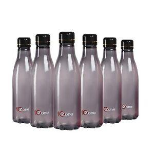 Plastik Kühlschrank Wasserflasche Set 6 Teile, 1 I, Schwarz