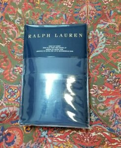 Ralph Lauren RL 624 Solid Sateen Polo Navy King Flat Sheet NWT $185