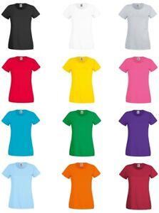 5er/10er - Damen T-Shirt Set´s - Fruit of the Loom - OriginalT - XS S M L XL XXL