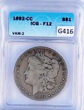 1892-CC MORGAN $1 ICG F-12 VAM-2 G416