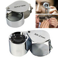 35*23*17mm Glass Magnifying Magnifier Jeweler Eye Loupe Loop Portable Glas
