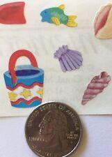 At The Beach Stickers(11pc)Creative Memories•Sun•Shell• Sand•Fish •Beachball•Pail